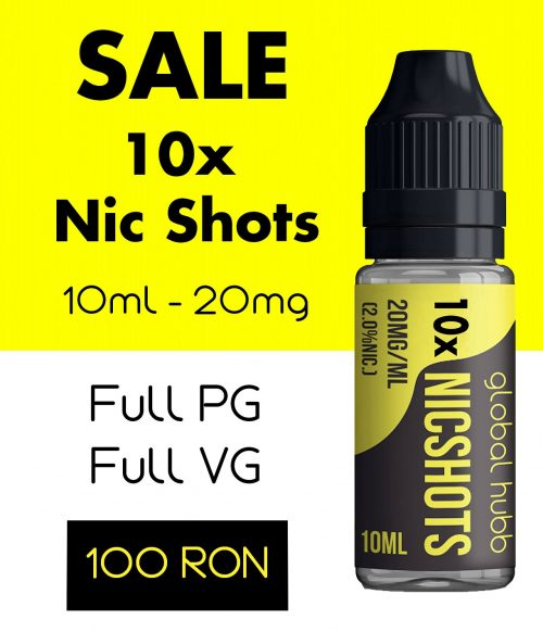 NicShots - 10 pack - 100 RON