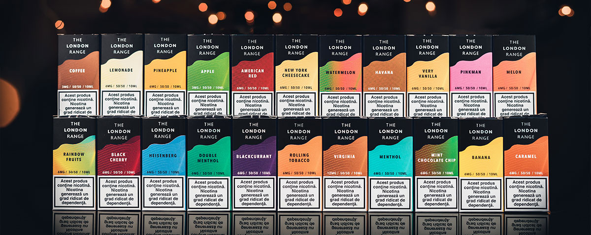 Global Hubb - THE LONDON RANGE - Lichide cu nicotina pentru tigari electronice